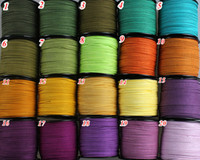 3mm Flat Faux Suede Leather Cord,DIY Leather String Cord Supplies,Faux Suede Lace,Vegan Suede Cord