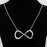 Wholesale One Direction Infinity Directioner Necklace - Fashion silver gold plated 8 infinity charm necklace one direction necklaces 1D directioner necklace for women