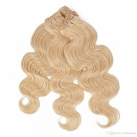 Wholesale Cheap Hair Bundles Online - Malaysian Virgin Hair Bundles Body Wave Hair Extension 613 Blonde 3pcs Can Be Dyed Remy Human Hair Weave Cheap Online Queenlike 9A Diamond