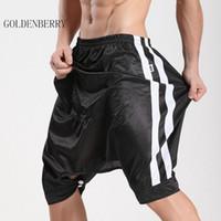 ingrosso shorts capris per gli uomini-All'ingrosso-uomini di marca pantaloncini culottes al ginocchio-lunghezza moda Active shorts maschio open-cavallo pantaloni capris uomo di buona qualità