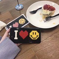 Wholesale I Face Covers - Korea Super Popular I Love You Smiling Face DIY Building Blocks TPU Case Cover For Iphone6 6S 7 6Plus 7Plus