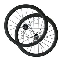 Track Bike Wheels 50 mm Clincher Tubular Full Carbon Wheelset for Fix Gear Vélo A165SBT / A166SBT Hub 3k Matte Bike Wheels