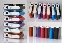 Wholesale Clip Mp3 Earphone Usb Cable - Mini Clip MP3 Player - 2016 HOT! Cheap Colorful Sport mp3 Players Come with Earphone, USB Cable, Retail Box, Support Micro SD TF Cards