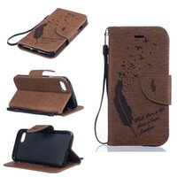 Wholesale Wallet Birds - Intricate Embossing Feather Bird Leather Wallet Case for iPhone 7 7plus 6 6s plus 5 trap Stand Card TPU Cover