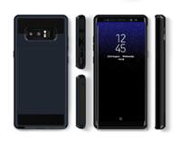ingrosso copertina in plastica posteriore per nota samsung-Custodia per cellulare Slot per schede Slot per Samsung Galaxy S8 S9 Plus Custodia rigida per Samsung S6 Edge Note 8 Hybrid plastica TPU