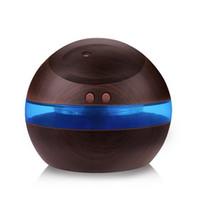 diffuseur d'aromathérapie ultrasonique à l'huile essentielle achat en gros de-En gros 300 ml USB humidificateur à ultrasons diffuseur d'arôme diffuseur d'huile essentielle diffuseur d'aromathérapie avec Blue LED Light livraison gratuite