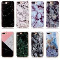 black marble pattern - For Iphone7 Plus S8 Plus Marble Rock Stone Pattern Soft TPU IMD Case Silicone Gel Back Covers For Ipod Touch6 Iphone S Plus
