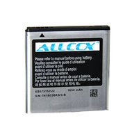 Wholesale T959 Batteries - Free shipping ALLCCX high quality mobile battery EB575152VU EB575152LU EB625152VU for Samsung Galaxy S, I9000 I9001 I9003 T959 I9008 I8250