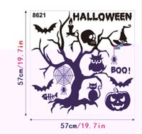 New wall stickers Halloween stickers bedroom sofa glass decoration  background stickers cartoon