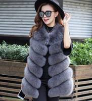 Wholesale Black Fur Gilet - Women Coat aux Fox Fur Vest Brand Shitsuke Fuorrure Femme Fur Vests Fashion Luxury Peel Women's Jacket Gilet Veste