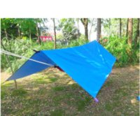 Wholesale Blue Awning - best selling 3 * 3m 210T with silver coating anti-UV tent Multifunction Waterproof Awning Camouflage Camping Tent with bag &nails &rope