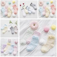 Wholesale Thin Cotton Socks Children - Boys Girls Cotton Socks Infant Newborn Lace Mesh Thin Soft Baby Summer Spring Socks Gift Children Kids Socks DHL 2017 Free Shipping