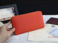 Wholesale photo ms - Fashion striped wallet zip handbag high high-quality brand Ms. Wallet credit card package multi-color optional