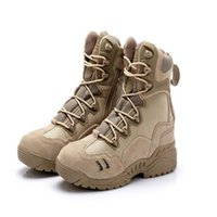 Wholesale Desert Combat Tactical Boots - ESDY Military Tactical Boots Desert Combat Outdoor Black Hiking Travel Shoes Leather Boats Autumn Winter Ankle Men's Boots