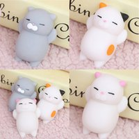 Wholesale Silicone Toys Japan - Wholesale- 1 pcs New Kawaii Original Japan Lazy Cat Mochi Decompress Squishy Squeeze Cat Healing Toy Mini Gifts