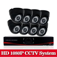 Wholesale Dvr Channel 3g Wifi - 8CH AHD-NH 2.0MP HD 1080P security dome camera CCTV System Kit 16 Channel Video Surveillance 1080P DVR NVR system usb 3g wifi