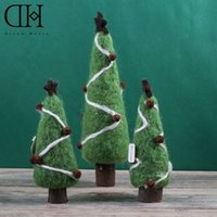 Wholesale Wholesale Kids Dh - Original Dream House DH BS163297 xmas wool tree figurine decoration jingle bell christmas gift for kids christmas craft