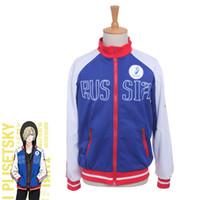 Wholesale Yuri Costume - Yuri!!! on Ice Yuri Plisetsky anime Cosplay Costume halloween party Jacket Coat