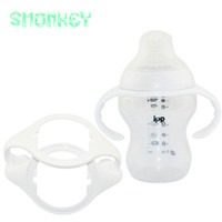 Wholesale glass bottles for milk - Wholesale-2PC baby feeding milk bottle grip Generic wide mouth Bottle Handles for Tommee Tippee Closer to Nature Baby Bottles accessories
