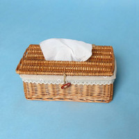 Wholesale Wicker Boxes - Wholesale- Tissue Boxes creative wicker cake towel tube with removable tissue toilet paper tissue box car kit Toothbrush Cup high quality