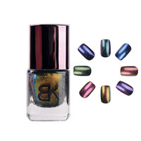 Wholesale Glitter Diamond Nail Designs - Wholesale-1pc 8ml cosmetics bk 8colors glitter diamond changeable star colorful holographic chameleon nail polish for nail art design