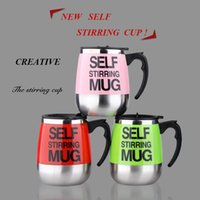 Wholesale Home Electric Mixer - Stainless Lazy Self Stirring Mug Automatic Mixing Coffee Cups Electric Milk Mixer Mugs Tea Autostirrer Drinking Cup 400ml Office Home Gifts