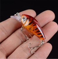 Nouveau 1pcs 4.5CM / 4G Laser Hard Crank Fishing Lure <b>Crankbait Treble Hooks</b> 3D Eyes Bait Fishing Tackle