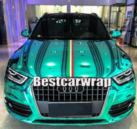 Wholesale Chrome Carbon Fiber Vinyl - Tiffany High Stretchable Chrome Mirror Vinyl Wrap Film with air bubble free For Car body Wrap Covering size 1.52x20m Roll 4.98x66ft