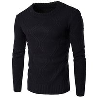 Wholesale Warm Sweater Size Xs - Wholesale- Autumn Winter Knitwear 2016 Fashion Men Warm Sweaters Casual Long Sleeve O Neck Knitted Sweater Pullovers Plus Size Clothing