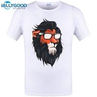 Wholesale Vintage Lion King Shirt - New 2017 Men Summer Novelty COOL SUMMERISH SCAR Design T shirt Vintage Lion King Tops Hot Sales Rock Tee Shirts