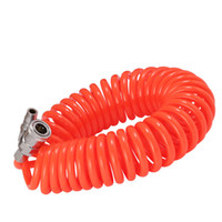 Wholesale quick hose online - 10X6 mm M pneumatic spring pipe PU air hose high pressure hose with quick couple