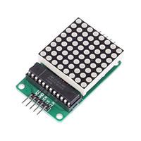 Wholesale Max7219 Dot Matrix Module Display - Smart Electronics LED Display Control 8 Digit Dot Matrix Module for DIY Starter Kit MAX7219 controller + Dupont Cable