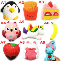 Wholesale Food Cells - Squishy Toy pegasus miniature food squishies Slow Rising 10cm 11cm 12cm 15cm Soft Squeeze Cute Cell Phone Strap gift Stress children toys 10