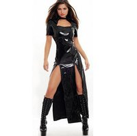 Wholesale Sexy Costumes For Role Play - New Sexy Halloween Black Matrix Cosplay Costume for Halloween Hot Sale Role Play PS009