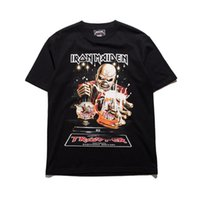 Iron Maiden Hip Hop Rock T-Shirt Männer Vintage Heavy Metal Kurze Ärmel Schwarz T-shirts Mens Oversized Loose Cotton Crossfit T-Shirts