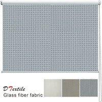 Wholesale Vertical Blinds Fabrics - Wholesale-Hot-selling fireproofing dustproof fiberglass fabric kitchen finished sunscreen roller blind 9813