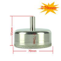 Wholesale Masonry Hole Saw - 70mm Diamond Coated Drill Drills Bit Hole Saw Core Driill Bit Marble Glass Granite Tools