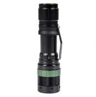 linterna recargable con zoom al por mayor-DHL LED Flashlight 2000 Lumens Impermeable con zoom XML Q5 Lámpara Antorcha de luz por 18650 Batería recargable PARA ourdoor
