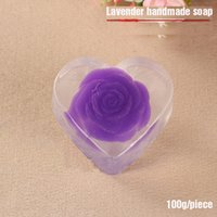 Wholesale Lavender Oil For Acne - New Arrivals Handmade Lavender Rose Lamon Soap Clean Face Skin Care Shower Hair Washing Pregnant Women Children Baby Essential Oil Soap