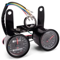 Wholesale motorcycle odometer speedometer tachometer - B733 Z Digital Signal Motorcycle Speedometer Odometer Tachometer Dual Color LED Backlights 13000 Rpm Lllumination Turn Lights