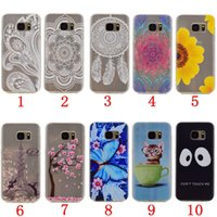 Wholesale Eiffel Tower Galaxy S4 Cover - Flower Mandala TPU Soft Case For Samsung Galaxy S7 S6 EDGE S5 S4 ON5 O5 G550 ON7 O7 Cartoon Love Cat Butterfly Paris Eiffel Tower Skin Cover
