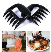 Wholesale Baked Chicken Bbq - 2PCS Set Home Kitchen Blacks Meat Claws Shredder Chicken Separator Easy Clean Use Kitchen BBQ Barbecue Cooking Tools Bear Claws X024-1