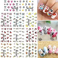 Wholesale Pedicure Stickers - 1 Lot = 11 Sheets Large Cartoon Mouse Water Transfer Nail Art Sticker Tips Watermark Manicure Pedicure BLE2248-2258