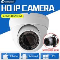 Wholesale Auto Iris Lens Cctv Camera - 4X Zoom HD 2MP IP Camera 1080P POE Outdoor Waterproof Dome Network Auto Iris Motorized Lens IR 30m Surveillance CCTV Camera