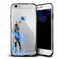 Wholesale Kobe Iphone Case - Bastketball Phone Case for iphone 7 7s plus 6 6s plus 5 5s se samsung S7 S6 S5 edge Soft TPU Transparent Cover KOBE BECKHAM JAMES Football