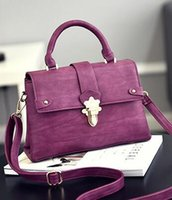 Wholesale Stereotypes Bags - 2017 new female package stereotypes lock fashion messenger handbag single shoulder lock small bag a generation of hair