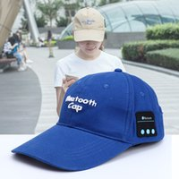 Wholesale Usb Baseball - Wireless Bluetooth Headphone Sports Baseball Cap Canvas Sun Hat Music Handsfree Headset with Mic Speaker DHL EAR232