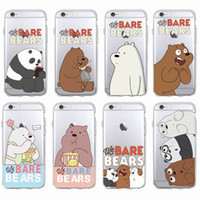 Pour iPhone 7 7Plus 6 6S 6Plus 5 5S SAMSUNG Cute Funny Bears Panda Animals Cartoon Soft Clear Housse de téléphone Coque Fundas
