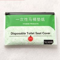 Wholesale toilet water - Disposable Toilet Seat Covers Hotel Supplies Pad Of Papers Cushion Paper Water Soluble English Packing Camping Festival Travel Wc 1 1zl H