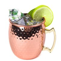 coffee mug shapes NZ - 20yf Drum Shape Copper Cup Milk Beer Coffee Mugs Moscow Mule Cocktail Mug Stainless Steel Cups Drinking Container High Quality R